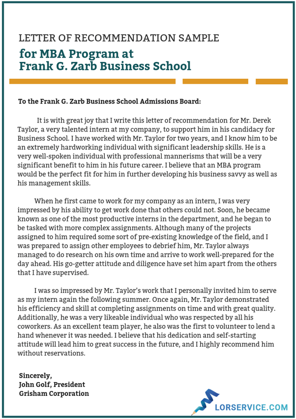 How Should I Request Letters Of Recommendation For Mba Programs