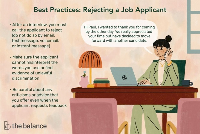 How To Reject A Job Applicant Professionally