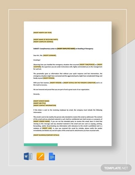 How To Write A Complimentary Letter For An Employee