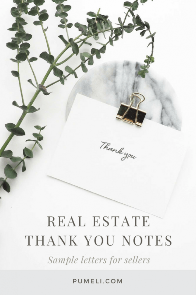 How To Write A Thank You Letter To Seller After Closing