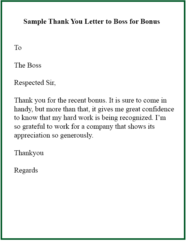 How To Write Thank You Letter Template To Boss Manager