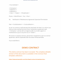 Client Termination Letter To Accountant