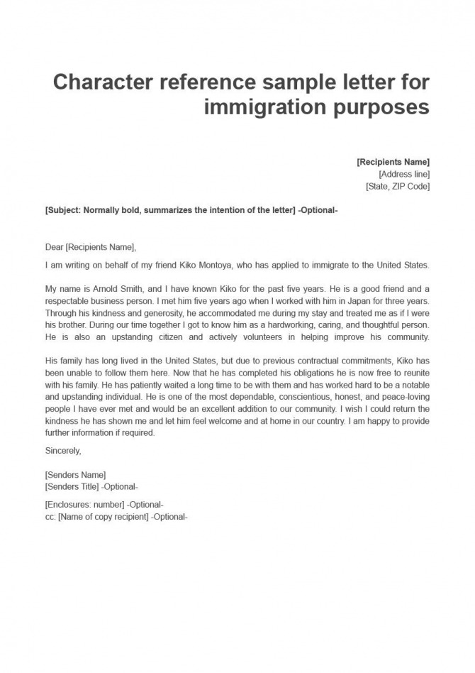 Immigration Letter For Friend Example Lovely  Free Immigration