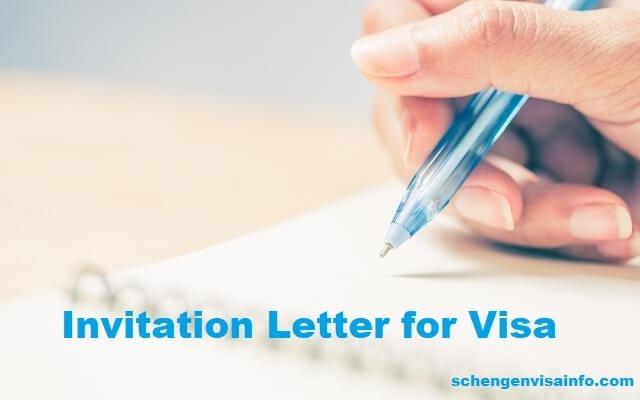 Invitation Letter For Schengen Visa  Letter Of Invitation For