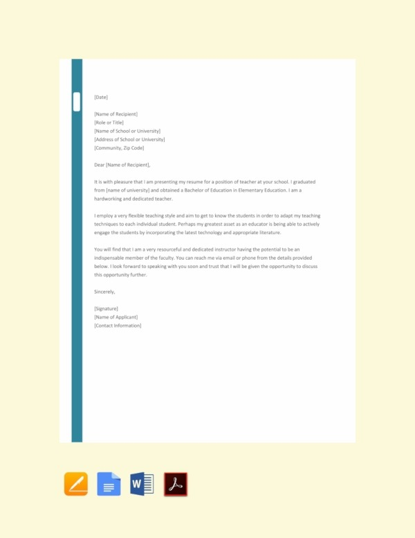 Job Application Letter Examples