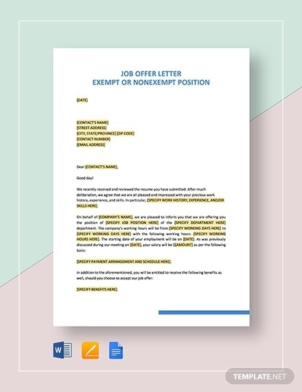 Job Offer Email Templates In Google Docs