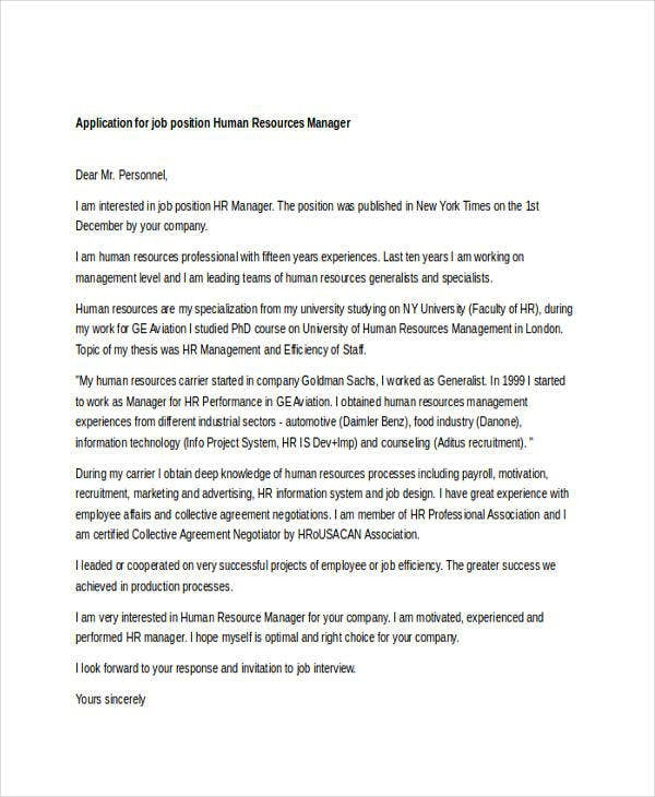 Job Request Letter Templates In Doc