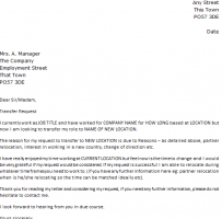 Transfer Request Letter Due To Health Problem