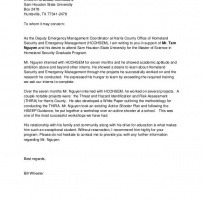 University Reference Letter