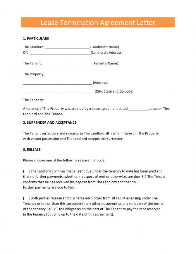 Landlords Contract Template Sample Tenancy Formal Early Lease