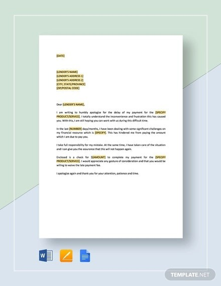 Late Payment Letter Templates