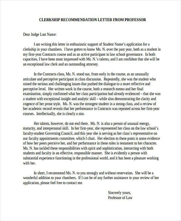 Law School Recommendation Letter From Employer Best Of  Re