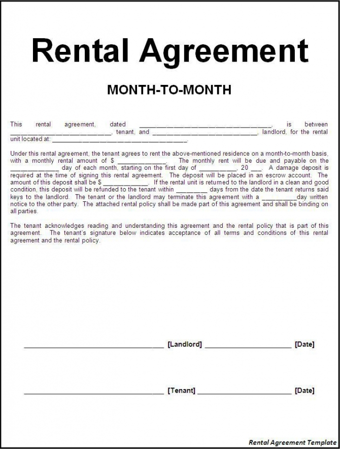 Lease Agreement Letter
