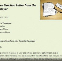 Company Leave Letter