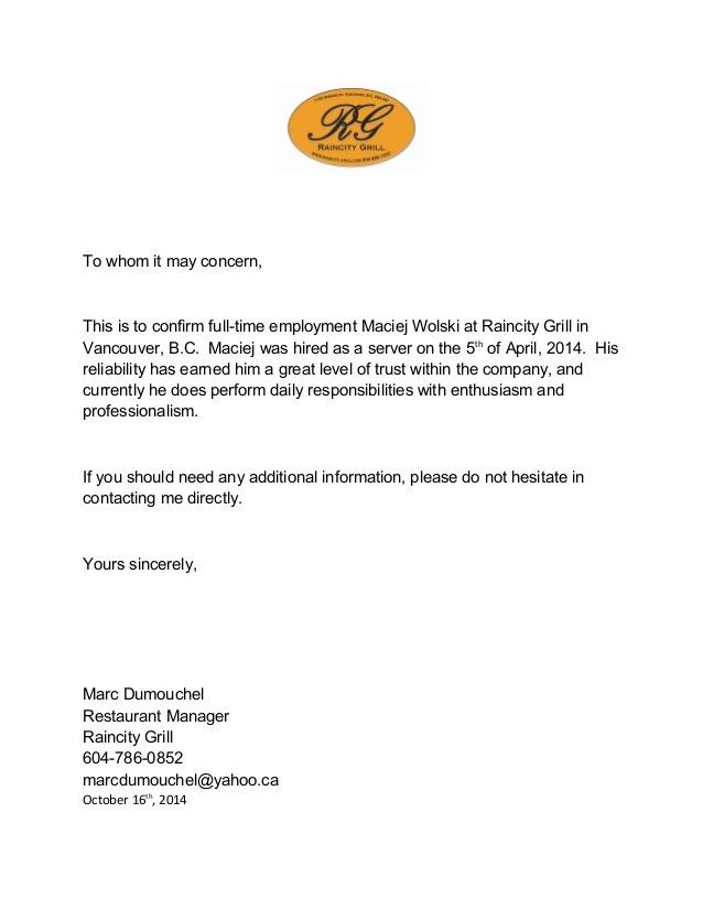 Letter For Maciej