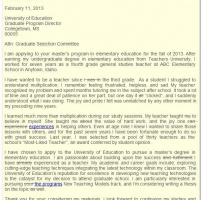 Letter Of Intent For University Admission