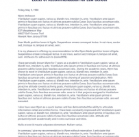 Law School Recommendation Letter
