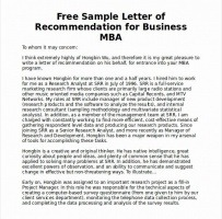 MBA Recommendation From Peer