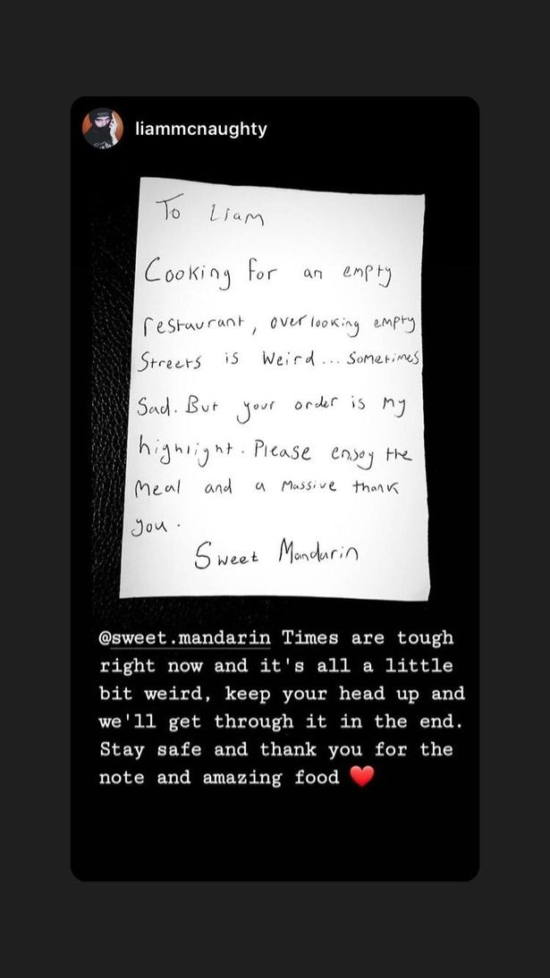Manchester Restaurant Sends Heartfelt Letters Thanking Takeaway