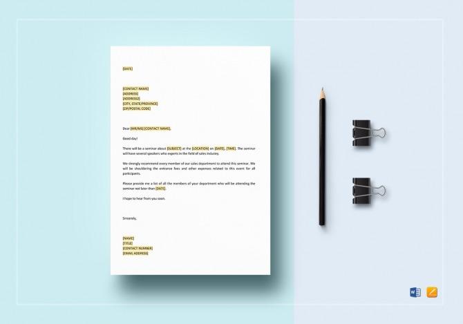 Memorandum On Sales Seminar Template In Word  Google Docs  Apple Pages