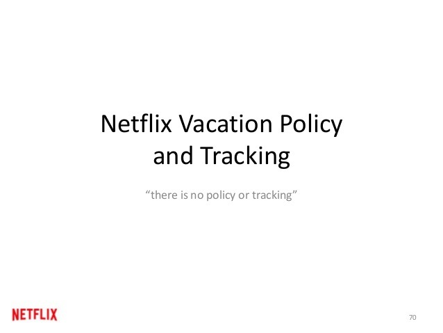 Netflix Vacation Policy And Tracking