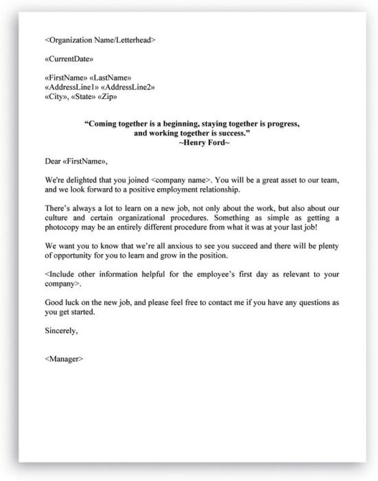 New Employee Welcome Email Reply Sample   Templates
