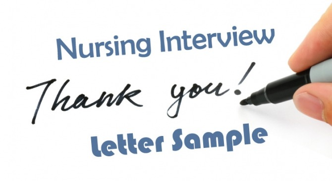 Nursing Interview Thank You Letter Sample How To Write Guide