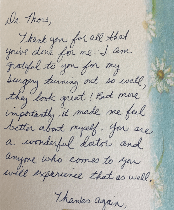 Patient Thank You Notes