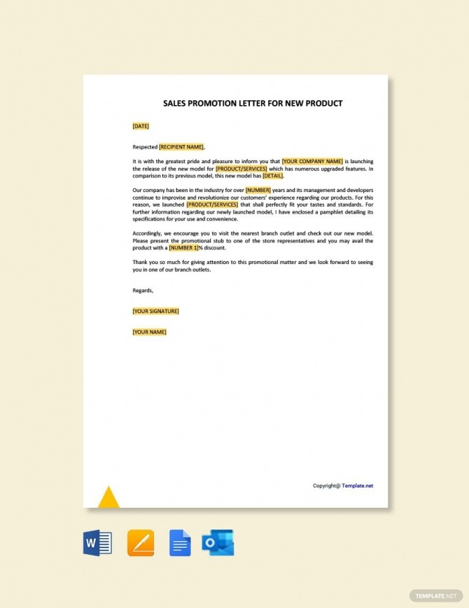 Sales Promotion Letter For New Product