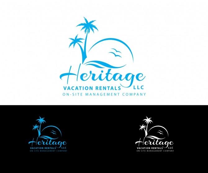 Playful  Bold  Tourism Logo Design For Heritage Vacation Rentals