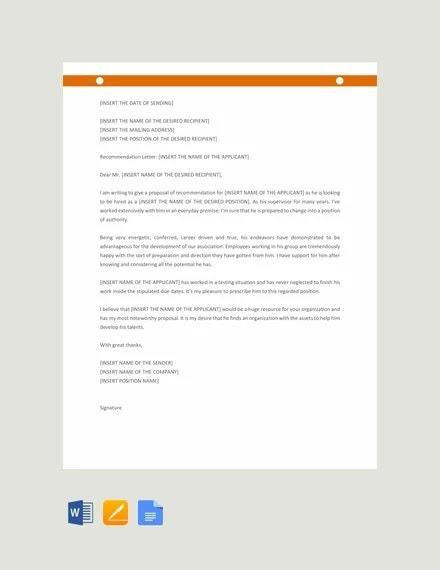Promotion Recommendation Letters