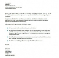Work From Home Proposal Letter