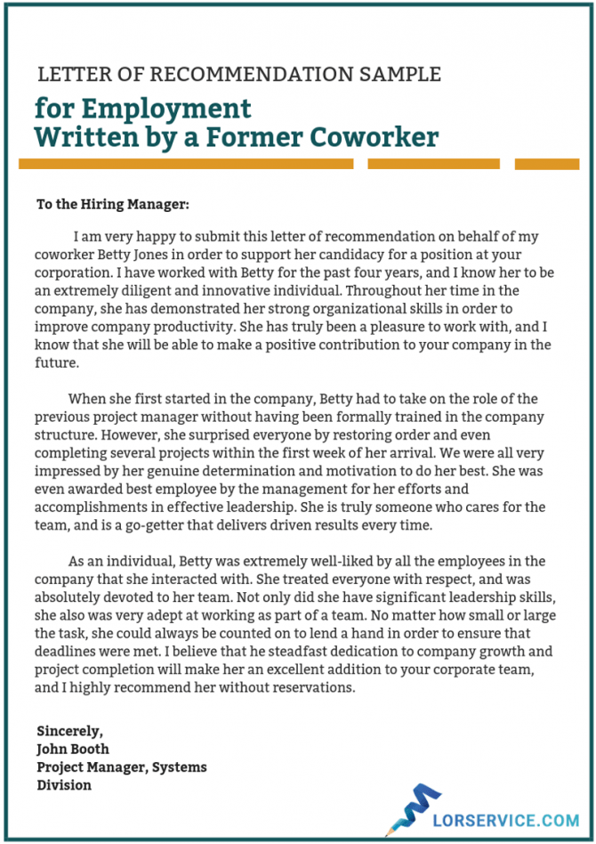 Recommendation Letter For A Coworker Sample On Behance