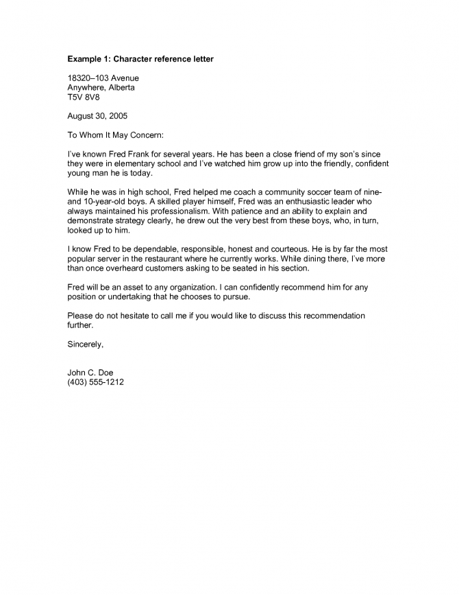 Work Reference Letter For A Friend Samples & Templates ...