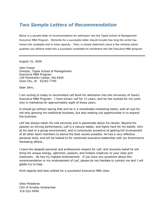 Recommendation Letter For Harvard Business School Pertaining To