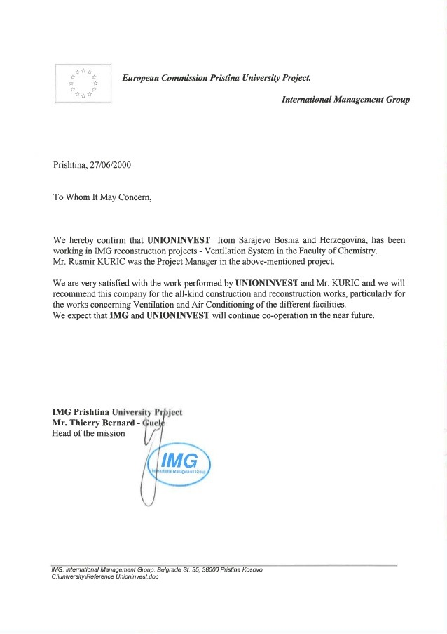 Recommendation Letter Img Project Manager