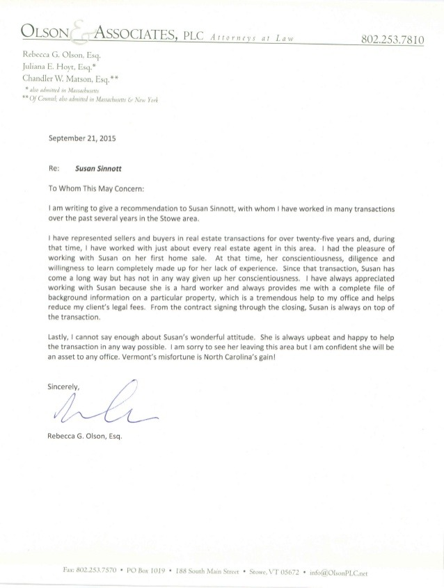 Reference Letter Lawyer