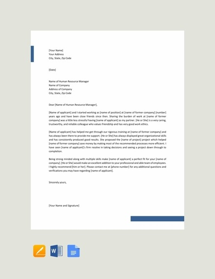 Reference Letters Examples  Templates In Word  Pages  Docs