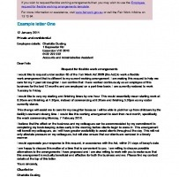 Flexible Working Request Letter