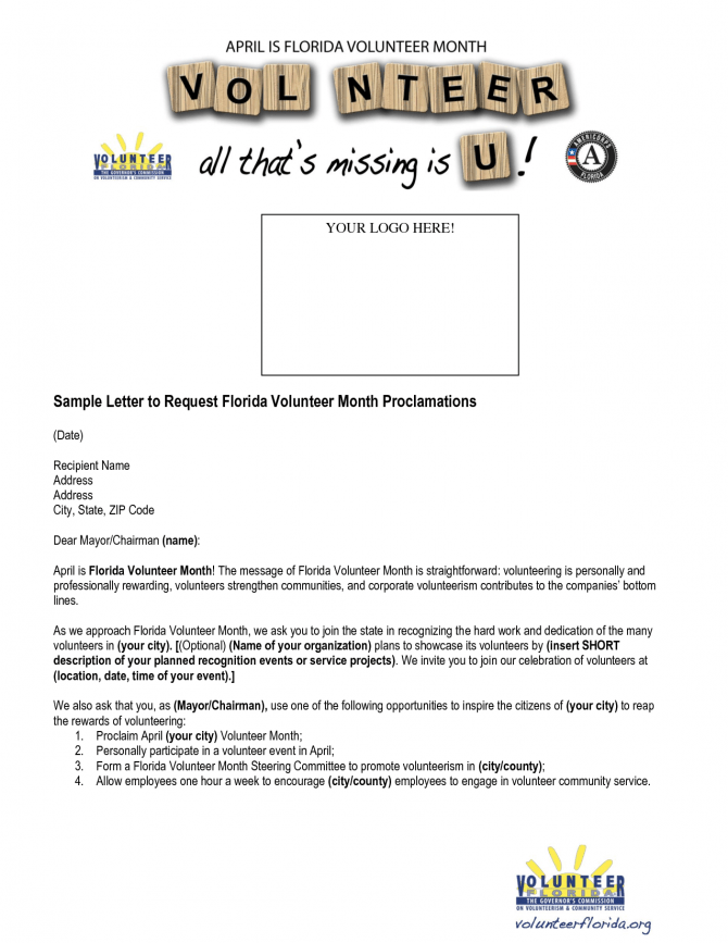Request For Volunteer Letter Sample