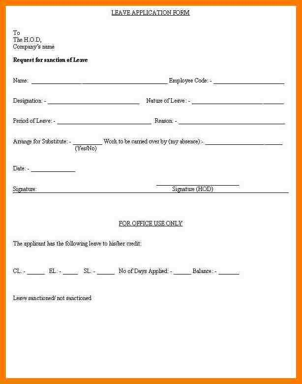 Request Letter For Medical Leave Sample