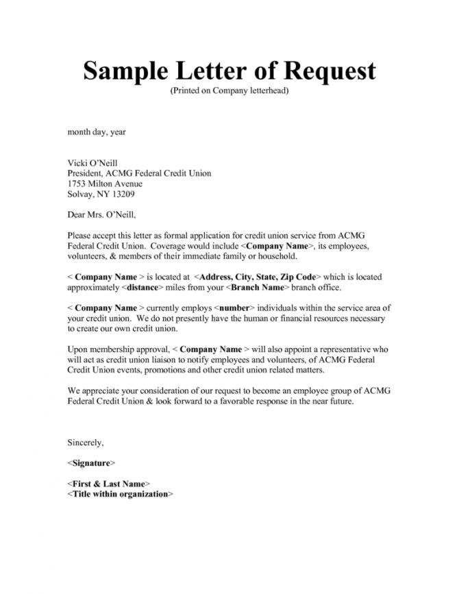Requisition Letter Templates