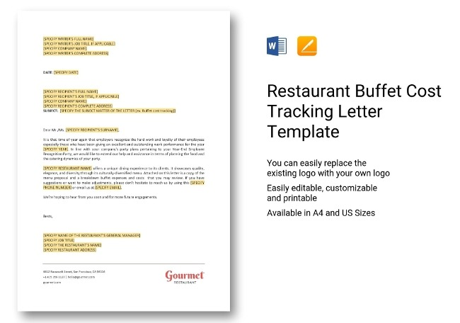 Restaurant Accounting Templates  Bookkeeping  Statements