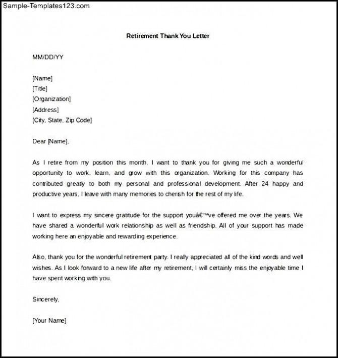 Retirement Letter Retirement Letters Livecareer  Sle Resignation