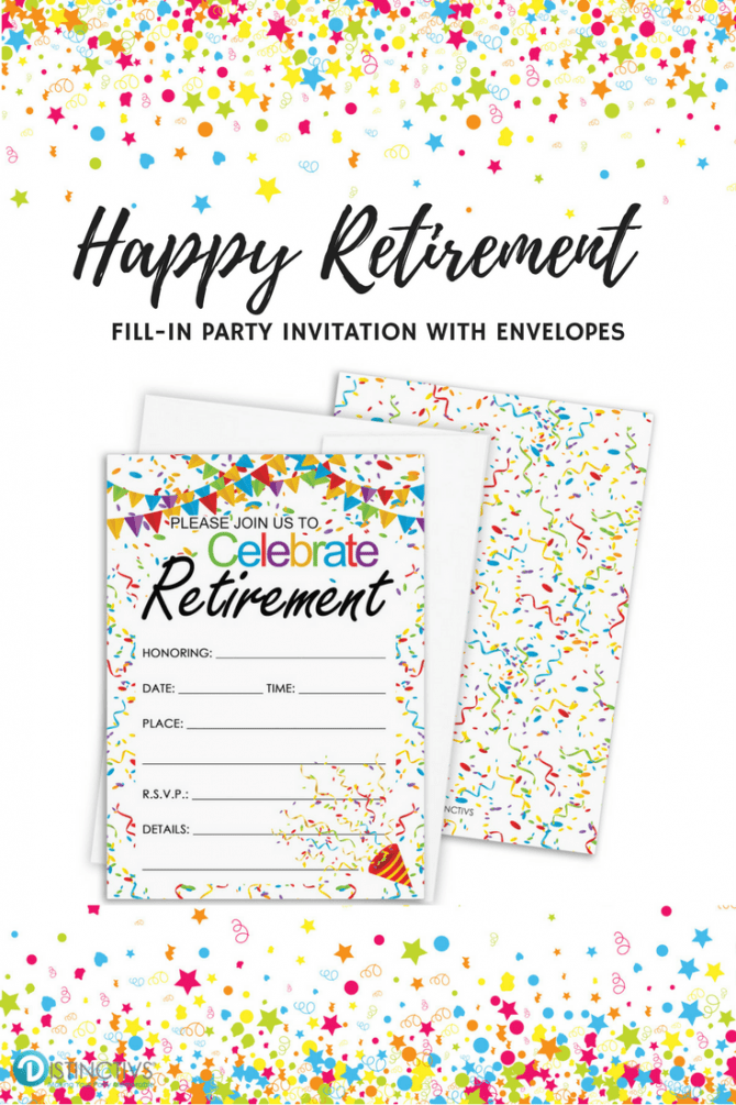 Retirement Party Invitation Cards With Envelopes