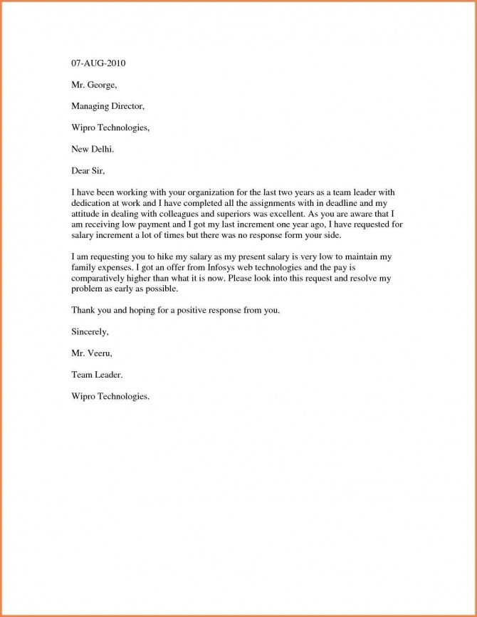 Salary Increase Letter Template Best Ideas Pay Australia For