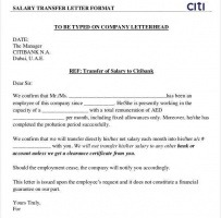 Salary Transfer Request Letter