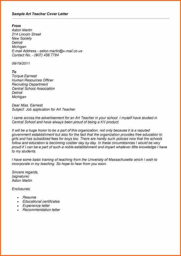 Sample Application Job Letter For Teachert Teacher Cover High