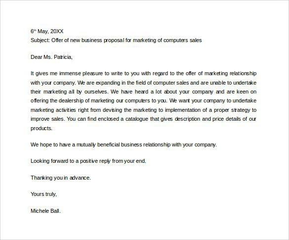 Business Sales Proposal Letter