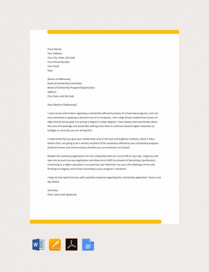 Sample College Application Letters